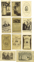 Photography:CDVs, Abraham Lincoln Memorial Cartes de Visite: A Fine Collection of 24 Some quite unusual varieties are included in this...