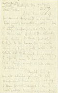 Autographs:Military Figures, An Exceptional Union Soldier's Letter from the Earliest Days of theWar. Written by Thomas Ewing, Jr., from the Washington o...