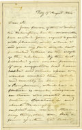"Autographs:Military Figures, General John Ellis Wool Autograph Letter Signed ""John E.Wool"". Two pages, 5"" x 8"", Troy, August 17, 1864, to E. C.Kent..."