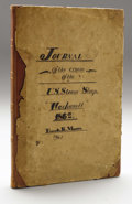 "Military & Patriotic:Civil War, Civil War Navy Diary From The U. S. S. Wachusett. Journal of the Cruise of the U.S. Steam Sloop ""Wachusett"" 1862. Fr..."