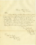 Autographs:Military Figures, Confederate General Henry Little Autograph Letter Signed. A fine 1859 ALS written from Camp Floyd to Colonel Cooper, U.S adj...