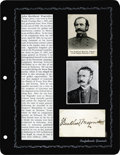 Autographs:Military Figures, Group Lot of Seven Scarce Confederate Generals' Autographsconsisting of: . John McCousland- War-date August 7, 1861 tra...