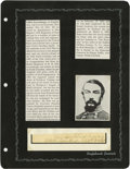 Autographs:Military Figures, Group Lot of Ten Confederate Generals' Autographs consisting of:. Joseph P. Kershaw- Autograph card with rank below.. ...