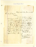 Autographs:Military Figures, Group Lot of Ten Confederate Generals' Autographs consisting of: . Edward A. O'Neal- Two documents: Autograph card & a c...