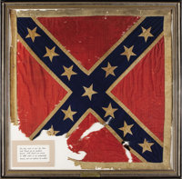 The Personal Battle Flag of Confederate General JEB Stuart, The Most Famous Cavalry Officer of the Civil War. General Ja...