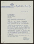 Football Collectibles:Others, 1960 Vince Lombardi Handwritten Letter....