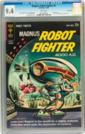 Silver Age (1956-1969):Science Fiction, Magnus Robot Fighter #4 Twin Cities pedigree (Gold Key, 1963) CGC NM 9.4 White pages....