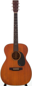 Musical Instruments:Acoustic Guitars, 1970 Martin 00-18 Natural Acoustic Electric Guitar, Serial # 264286....