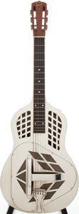 Musical Instruments:Acoustic Guitars, 1930 National Style 1 Tri-Cone Nickel-Plated Resonator Guitar,Serial # 1643....