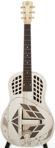 Musical Instruments:Resonator Guitars, Late 1930s National Tricone Resonator Guitar, Serial # A701...