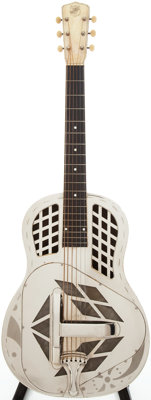 Late 1930s National Tricone Resonator Guitar, Serial # A701