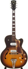 Musical Instruments:Electric Guitars, 1950s Vega E-40-D Sunburst Semi-Hollow Body Electric Guitar,#11362....