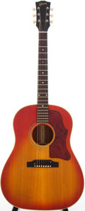Musical Instruments:Acoustic Guitars, 1964 Gibson J-45 Sunburst Acoustic Electric Guitar, Serial #231951....