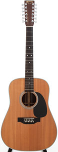 Musical Instruments:Acoustic Guitars, 2002 Martin D-12-28 Natural 12-String Acoustic Guitar, Serial #888640....