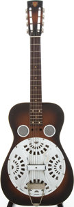 Musical Instruments:Acoustic Guitars, 1973 Dobro Model 63 Sunburst Resonator Guitar, Serial # 1602....