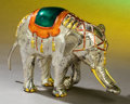 Silver Holloware, American:Other , A TIFFANY & CO. SILVER AND ENAMEL CIRCUS ELEPHANT DESIGNED BYGENE MOORE . Made in Italy for Tiffany & Co., New York, NewYo...