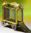 Silver Holloware, American:Other , A TIFFANY & CO. SILVER AND ENAMEL LION CAGE DESIGNED BY GENEMOORE . Made in Italy for Tiffany & Co., New York, New York,ci...