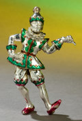 Silver Holloware, American:Other , A TIFFANY & CO. SILVER AND ENAMEL CIRCUS CLOWN DESIGNED BY GENEMOORE . Made in Italy for Tiffany & Co., New York, New York,...