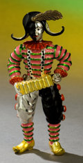 Silver Holloware, American:Other , A TIFFANY & CO. SILVER AND ENAMEL CIRCUS CLOWN WITH ACCORDIONDESIGNED BY GENE MOORE . Made in Italy for Tiffany & Co., New...