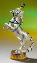 Silver Holloware, American:Other , A TWO PART TIFFANY & CO. SILVER AND ENAMEL CIRCUS HORSE ANDDRUM DESIGNED BY GENE MOORE . Made in Italy for Tiffany & Co.,N...