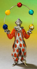 Silver Holloware, American:Other , A TIFFANY & CO. SILVER AND ENAMEL CIRCUS JUGGLER DESIGNED BYGENE MOORE . Made in Italy for Tiffany & Co., New York, NewY...