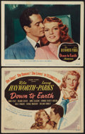 """Movie Posters:Musical, Down to Earth (Columbia, 1947). Title Lobby Card and Lobby Card (11"""" X 14""""). Musical.. ... (Total: 2 Items)"""