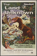 "Movie Posters:Science Fiction, The Land Unknown (Universal International, 1957). One Sheet (27"" X41""). Science Fiction.. ..."