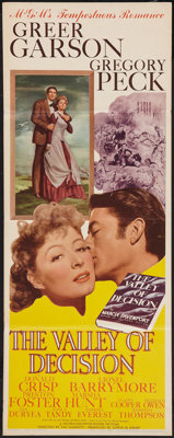"The Valley of Decision (MGM, 1945). Insert (14"" X 36""). Drama"