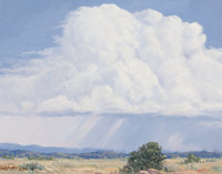 ANDY FOLLIS (American, 20th Century) Clouds Over New Mexico, 2004 Oil on canvas 14 x 11 inches (3