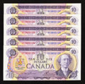 Canadian Currency: , BC-49a $10 1971 Five Consecutive Examples.. ... (Total: 5 notes)