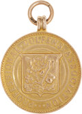 Golf Collectibles:Miscellaneous, 1934 Henry Cotton Ryle Memorial Open Championship Gold Medal....