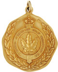 Golf Collectibles:Miscellaneous, 1931 Walter Hagan Canadian Open Gold Medal....