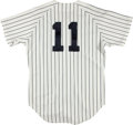 Baseball Collectibles:Uniforms, 1991 Buck Showalter Game Worn New York Yankees Jersey....