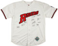 Baseball Collectibles:Uniforms, 1990's Frisco RoughRiders Team Signed Jersey....