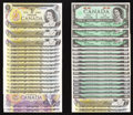Canadian Currency: , Canada $1s and $10s.. ... (Total: 34 notes)