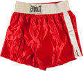 Boxing Collectibles:Autographs, George Foreman Signed Boxing Trunks....