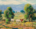 Paintings, ILA MAE MCAFEE (American, 1897-1995). Hint of Autumn, circa 1935. Oil on board. 16 x 20 inches (40.6 x 50.8 cm). Signed ...