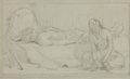 Works on Paper, EANGER IRVING COUSE (American, 1866-1936). Mourning the Chief of the Tribe (preparatory sketch), 1891-1892. Pencil on pa... (Total: 3 )