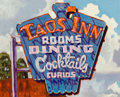 Paintings, DENNIS ZIEMIENSKI (American, b. 1947). Taos Inn (study), 2009. Oil on board. 8 x 10 inches (20.3 x 25.4 cm). Signed and ...