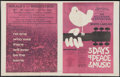 "Movie Posters:Rock and Roll, Woodstock (Warner Brothers, 1970). Herald (4 Pages, 12"" X 15"").Rock and Roll.. ..."