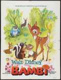 "Movie Posters:Animation, Bambi (Buena Vista, R-Late 1960s). French Affiche (23.5"" X 31.5"").Animation.. ..."