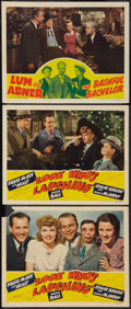 """Movie Posters:Comedy, Look Who's Laughing and Other Lot (RKO, 1941). Lobby Cards (3) (11"""" X 14""""). Comedy.. ... (Total: 3 Items)"""