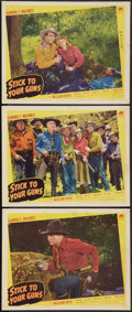 "Movie Posters:Western, Stick to Your Guns (Paramount, 1941). Lobby Cards (3) (11"" X 14""). Western.. ... (Total: 3 Items)"