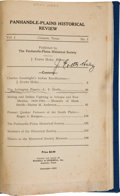 Books:Signed Editions, J. Evetts Haley, editor. Panhandle-Plains Historical Review, 1928....