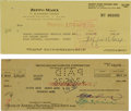 Autographs:Checks, 1936 Marx Brothers Multi-Signed Check & More!...