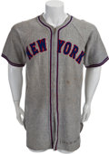 Baseball Collectibles:Uniforms, 1941 Harry Danning Game Worn New York Giants Jersey....
