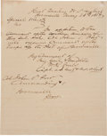 """Miscellaneous:Ephemera, [John S. """"RIP"""" Ford]. Manuscript Orders Appointing Ford asCommander of Brownsville. ..."""