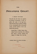 Books:Americana & American History, [Beales Grant]. General Benjamin F. Butler, et al. The ArkansasGrant. A Brief History. From the time the Grant wa...