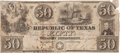 Miscellaneous:Ephemera, Mirabeau B. Lamar Engraved Republic of Texas Fifty Dollar Note....
