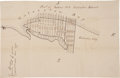Miscellaneous:Maps, Hand Drawn Map of Galveston with two additional unrelated maps....(Total: 3 Items)